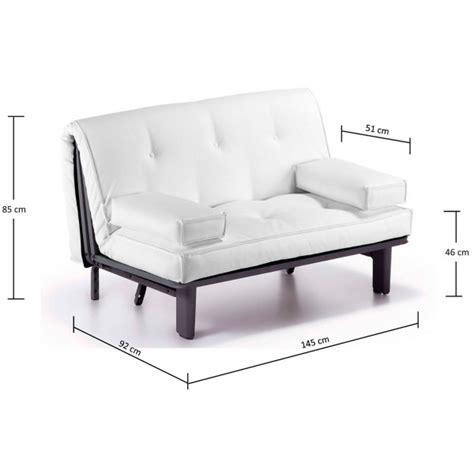 divano letto ecopelle bianco paco bianco o nero in ecopelle divano 2 posti pronto letto