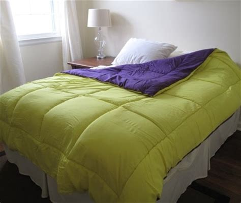 cheap dorm bedding vibrant dorm room bedding purple yellow reversible