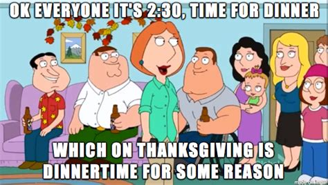 Family Sucks Meme - family guy summing up my views on thanksgiving funny