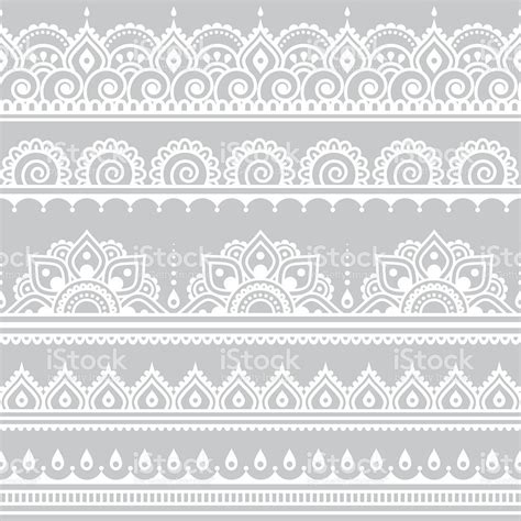 henna tattoo background repetitive vector ornament orient traditional style on