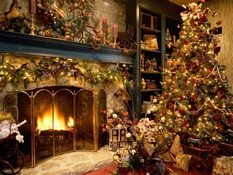 beautiful christmas tree and fireplace best hd