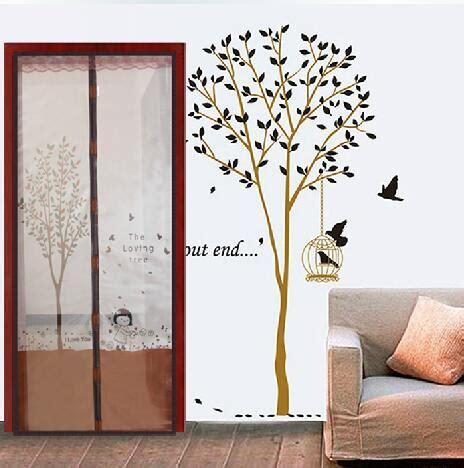 tirai pintu magnet motif tree anti nyamuk tuantoko