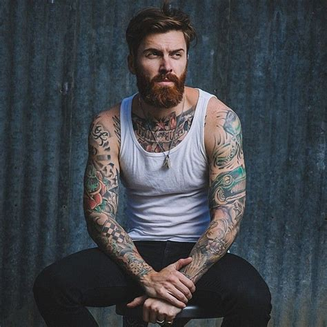 beard tattoo hashtags levi stocke red beard mustache beards bearded man men