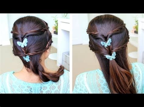 collage youtube video hair tutorial easy half updos long wavy fancy rope braid half updo hairstyle for medium long hair