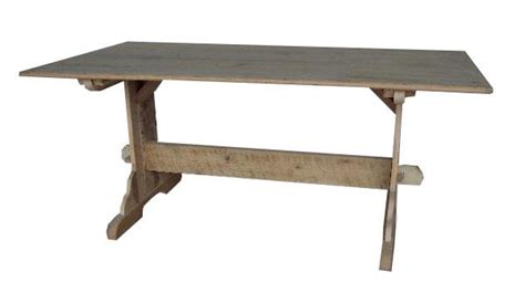 amish trestle dining table handcrafted from reclaimed barnwood