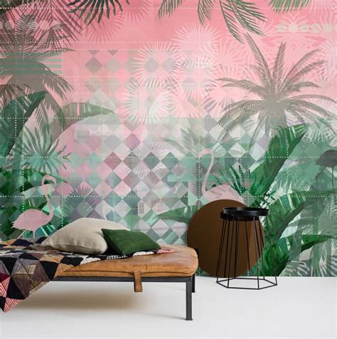 miami deco wallpaper designed by magdalena lundkvist mr