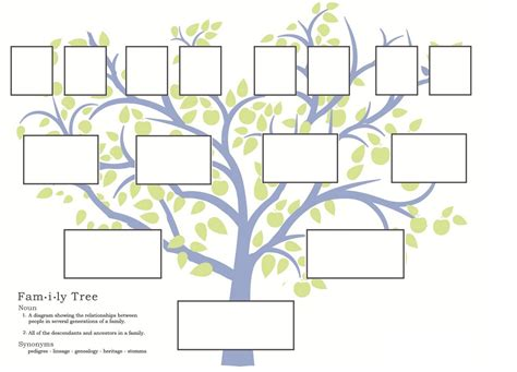 Free Downloadable Family Tree Templates family trees family tree templates and tree templates on