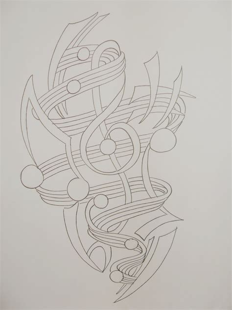 tattoo design outlines music tattoo outline by rhianne almond on deviantart
