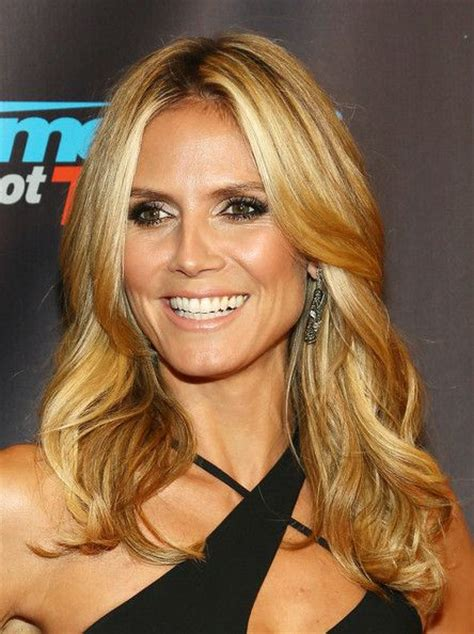 what colour is heidi klum s hair heidi klum hair color hair colar and cut style