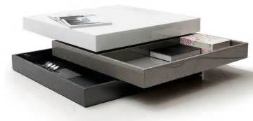 contemporary transforming square coffee table with storage