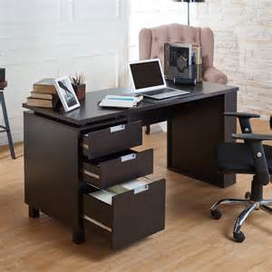 Home Built Computer Desk Brown Office Desks With Built In File Cabinet Computer