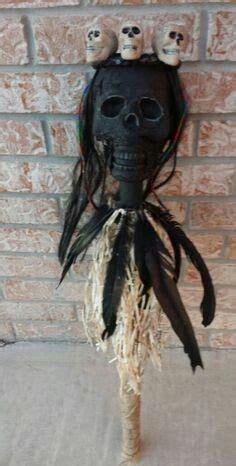 skull staff voodoo halloween witch doctor costume