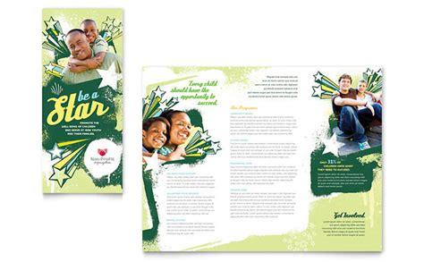Child Advocates Tri Fold Brochure Template Design