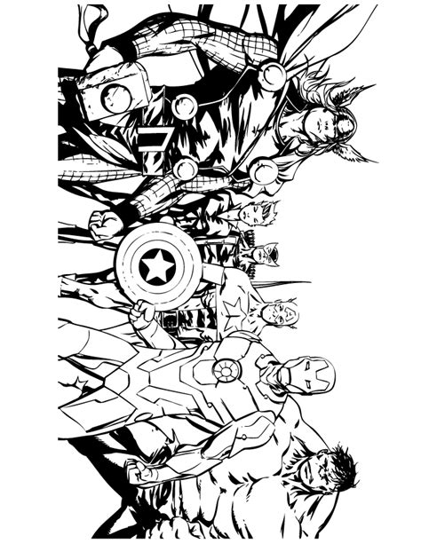 avengers comic coloring page h m coloring pages