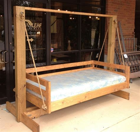 twin bed swing handcrafted twin swing bed furniture furnishings etc