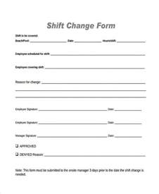 shift report sheet template sle employee shift change forms 7 free documents in