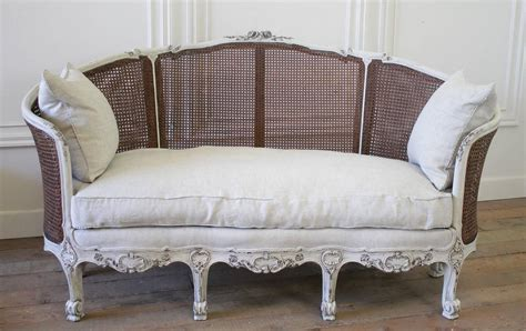 cane back sofa 19th century antique french cane back louis xv style sofa