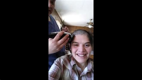head shaved for surgery me shaving my head before brain surgery youtube