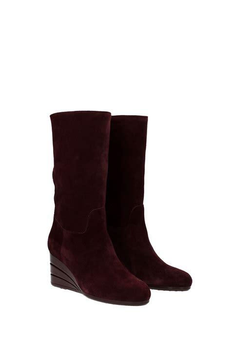 salvatore ferragamo boots boots salvatore ferragamo suede violet mywinter0621035