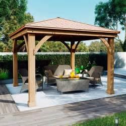 cedar pergola costco costco uk solowave 12 x 12ft 3 6 x 3 6m cedar pergola with peaked aluminium solid roof