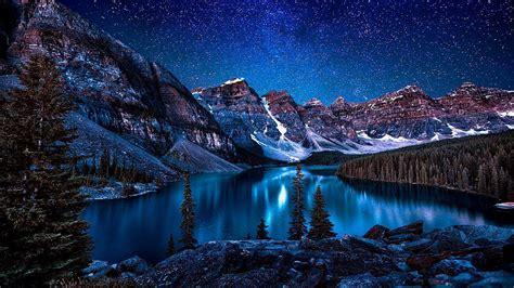 moraine lake valley   ten peaks wallpaper