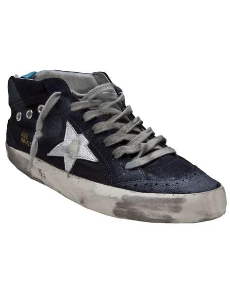 sneakers brands lyst golden goose deluxe brand mid sneaker in blue