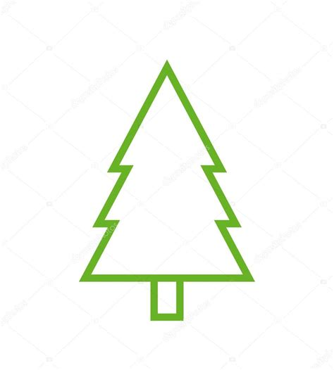 Tree Outline Green by Fir Tree Outline Icon Modern Minimal Flat Design Style Spruce Vector Illustration Pine Line