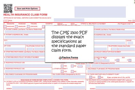 Cms 1500 Hcfa Pdf Template And 200 Paper Claim Forms Fiachra Forms Charting Solutions Cms 1500 Template Pdf