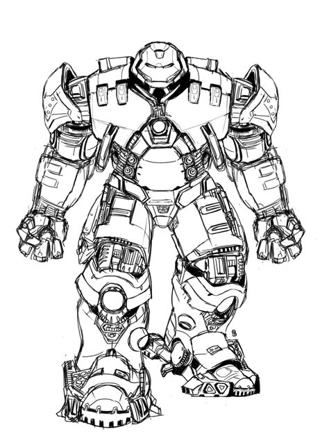 Hulkbuster Coloring Pages | hulkbuster by chocolatebomb247 on deviantart