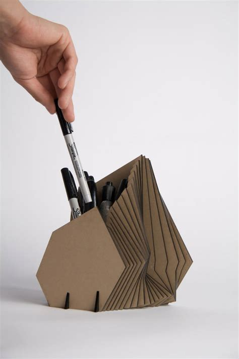 Cool Pen Holders by 10 Cool Ideas To Recycle Useless Cardboard Designer
