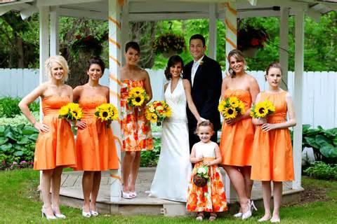 Orange Color Theme by Wedding Themes Orange Cookie S Crumbles