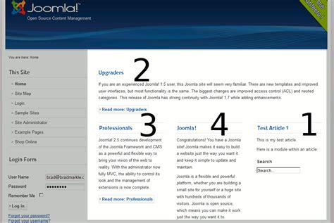 joomla article design layout changing the order of featured articles on your joomla 2 5