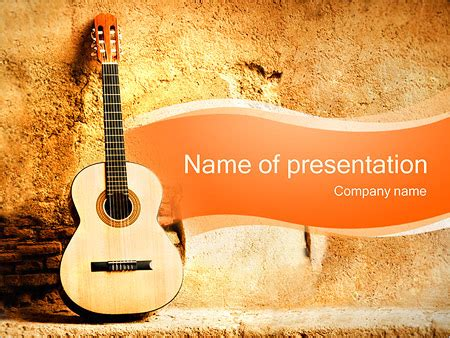 Powerpoint Templates Music Gallery Powerpoint Template And Layout Guitar Powerpoint Template