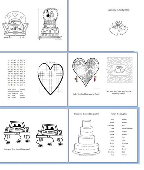 wedding activity book for template children s activity book weddingbee