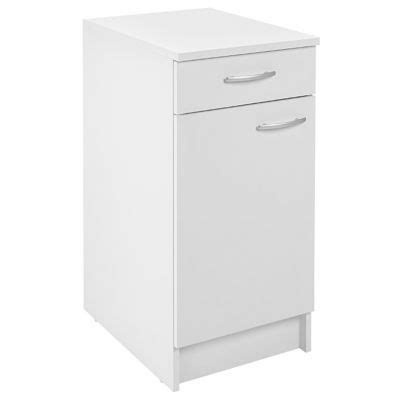cuisine primalight meuble cuisine bas 1 porte 1 tiroir 40 cm blanc primalight