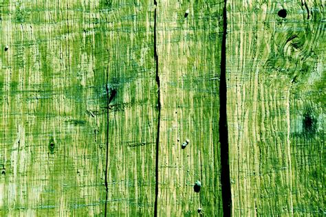 green woodwork green wood fence background free stock photo
