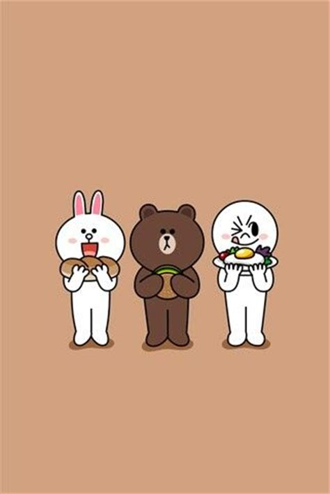 Brown Line Characters 17 best images about line deco app on the grass friends and white wallpaper