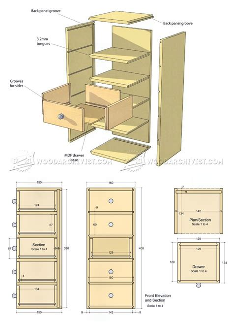 Chest Of Drawers Design Plans by Small Chest Of Drawers Plans Woodarchivist