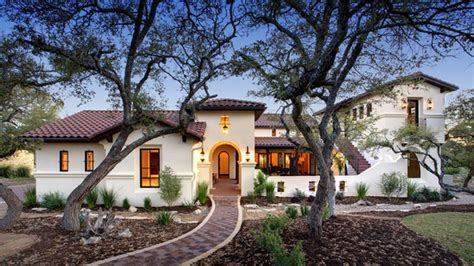 spanish hacienda style homes spanish hacienda mediterranean exterior austin by
