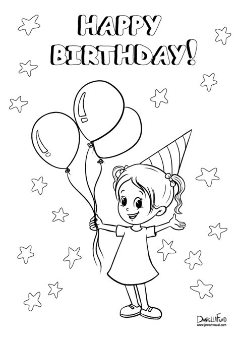 coloring page birthday girl birthday coloring pages girls