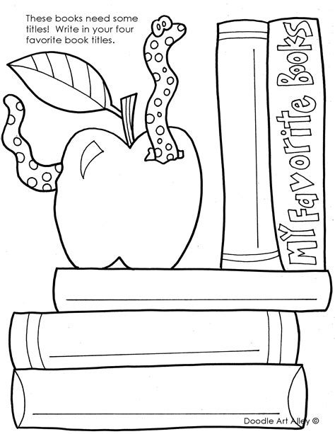 coloring 2 renew books library coloring pages classroom doodles