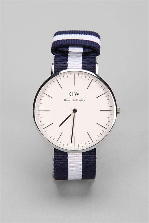 Daniel Wellington Glasgow Silver daniel wellington glasgow in blue for silver lyst