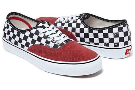 Vans Authentic Checkerboard X Supreme White supreme x vans authentic checkerboard cord sneaker freaker