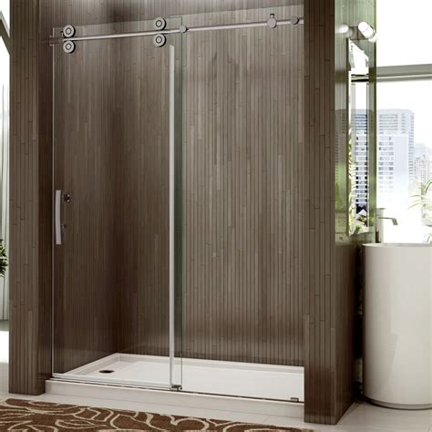 valley shower door rolling door and a single fixed panel - Rolling Shower Door