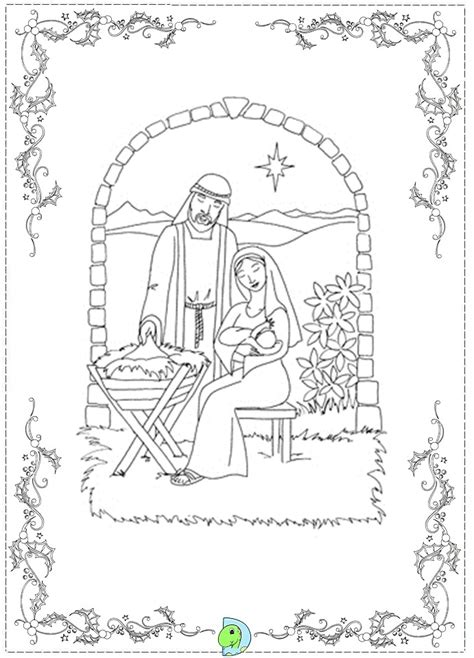nativity scene animals coloring pages nativity coloring page dinokids org