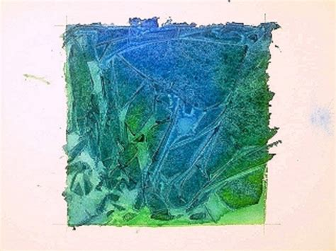 tutorial tuesday creating painted texture with saran wrap clever watercolor technique using plastic wrap for texture