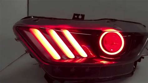 mustang eye headlights 2015 ford mustang custom headlights color changing leds
