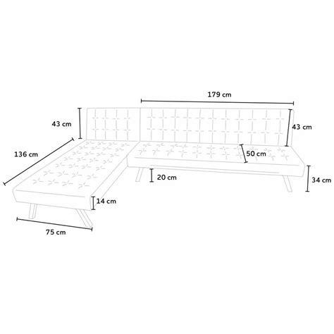dimensioni divano letto divano letto ad angolo con penisola 3 posti in similpelle