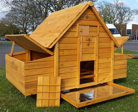 buy hen house large chicken coop run hen house poultry ark home nest box coup coops ebay