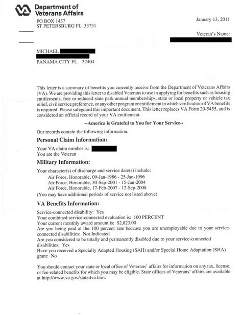 Award Letter Ebenefits new va benefits letter vbn throughout va disability